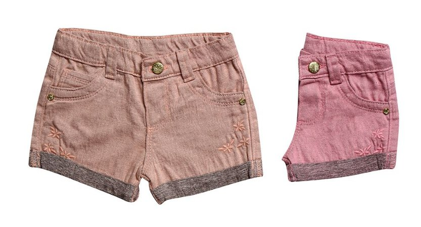 SHORTS REGULAR SARJA FLORES P/G