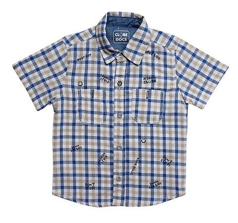 Camisa masculina xadrez stamp infantil 1 ao 3 clube do doce