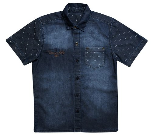 Camisa masculina jeans cd teen 10 ao 16 clube do doce