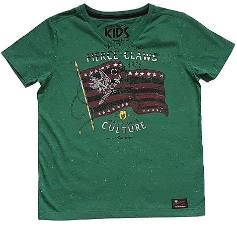 Camiseta Estampada Verde TAM 6