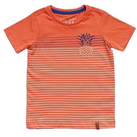 Camiseta Listrada Laranja TAM 4