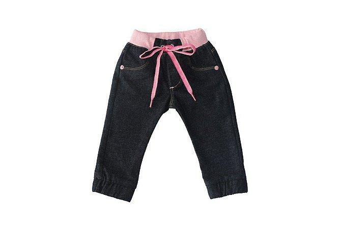Calça feminina bebê sarja ribana colors p ao g clube do doce