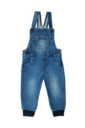 Jardineira masculina jeans bebê jogger p ao g clube do doce