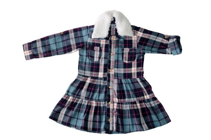 Vestido feminino m/l xadrez infantil 1 ao 3 clube do doce