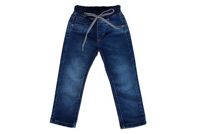 Calça masculina jeans infantil ribana marinho 1 ao 3 clube do doce