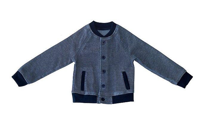 Jaqueta masculina jeans dublê infantil 1 ao 3 clube do doce