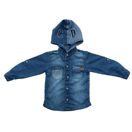 Camisa Jeans Clube do Doce Capuz Júnior