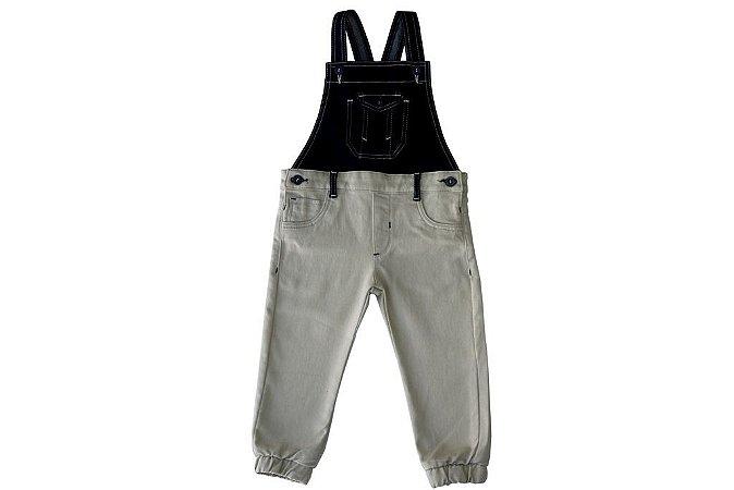 Jardineira masculina jeans infantil duas cores murano 1 ao 3 clube do doce