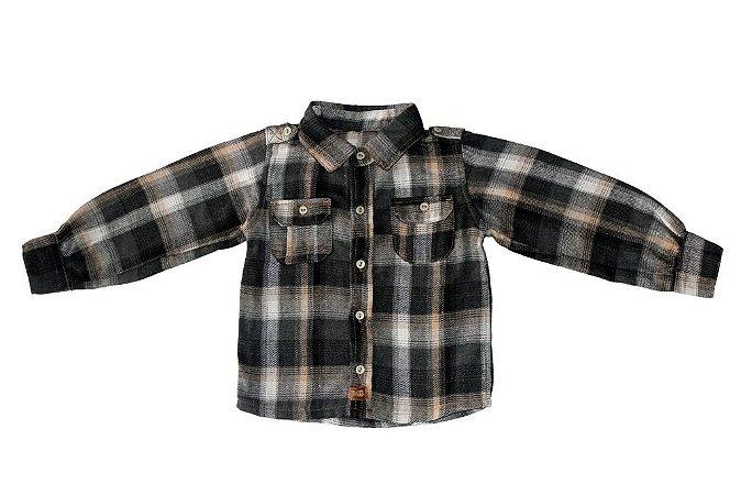 Camisa masculina xadrez infantil flanelado 1 ao 3 clube do doce