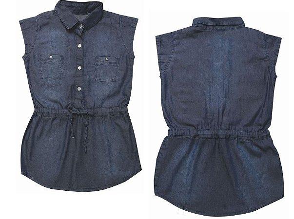 Vestido jeans infantil clube girl 4 ao 8 clube do doce