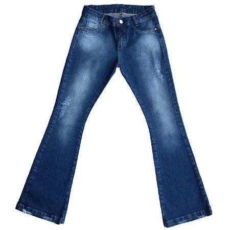 Calça Jeans Clube do Doce Max Flare Teen