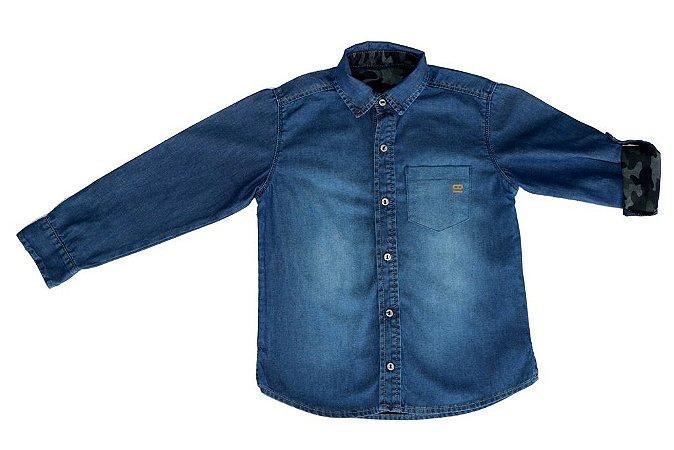 Camisa masculina infantil jeans war 4 ao 8 clube do doce