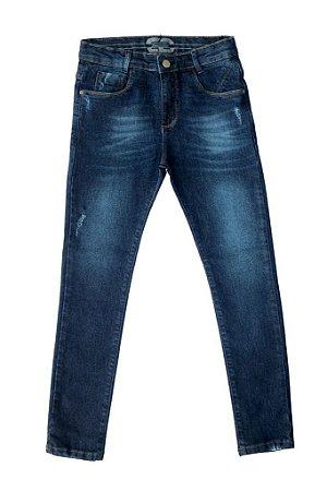 Calça masculina juvenil jeans denim brand 10 ao 16 clube do doce