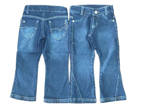 Calça feminina infantil jeans 1 ao 4  baby lola cuteness blt clube do doce