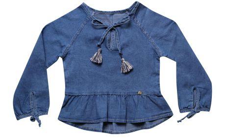 Bata feminina infantil jeans 4 ao 8 Barbicacho clube do doce