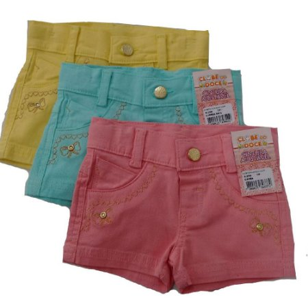 Shorts Sarja  Clube do Doce Color lovers