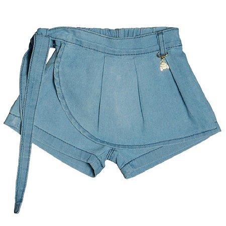 Shorts Saia Jeans Clube do Doce Pingente Abelha - Verão 2021