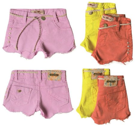Shorts Sarja Clube do Doce Slim Ondas Color