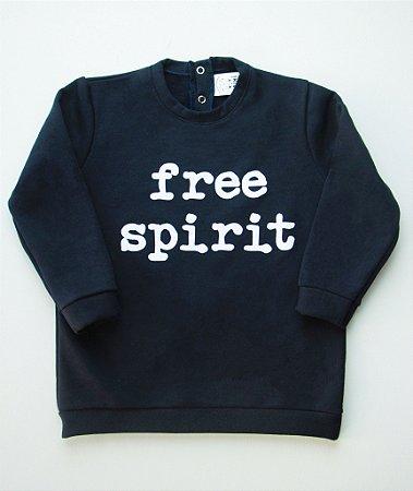 Blusa de Moletom Free Spirit Azul Marinho