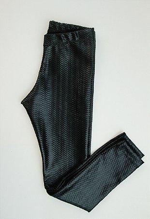 Calça Legging Preta Acetinada
