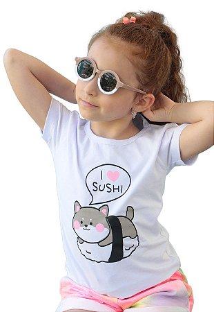 Camiseta Branca I love Sushi