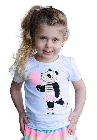 Camiseta Panda Algodão Doce