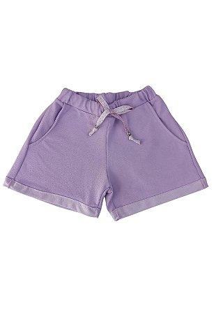 Shorts Moletim Lilás