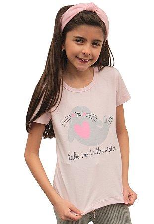 Camiseta Foca Rosa