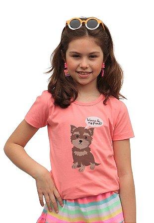 Camiseta Dog Coral