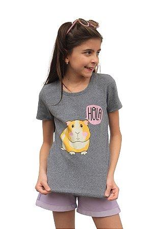 Camiseta Porquinho da Índia Mescla