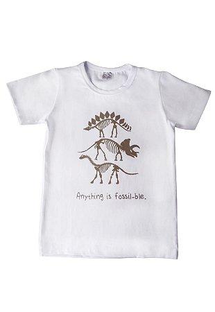 Camiseta Branca Dinossauro