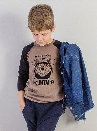 Camiseta Raglan Mountains