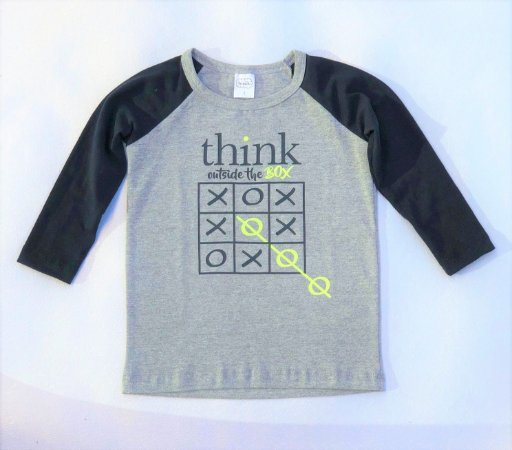 Camiseta Raglan Think