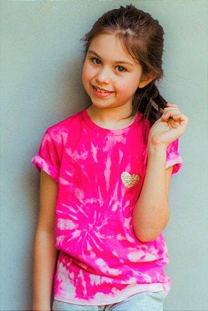 Camiseta Tie Dye Pink