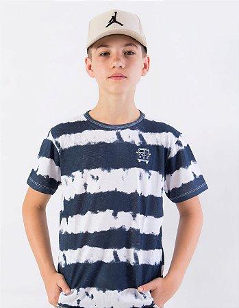 Camiseta Listras Tie Dye
