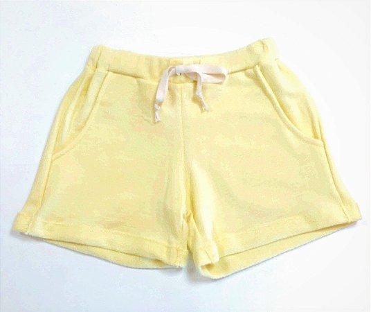 Shorts Moletim Amarelo