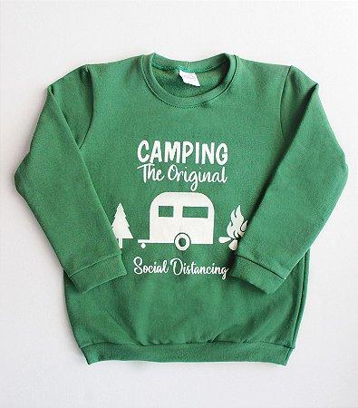 Blusa de Moletom Verde Camping