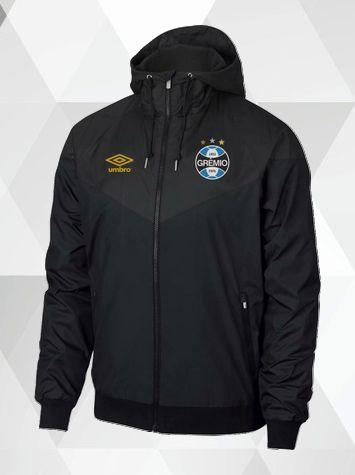 ee10fef915c543 Jaqueta Corta-Vento GRÊMIO Preta - Müller Sports   Sua Loja Oficial ...