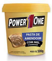 PASTA DE AMENDOIM COM MEL E GUARANÁ (500G) - POWER1ONE