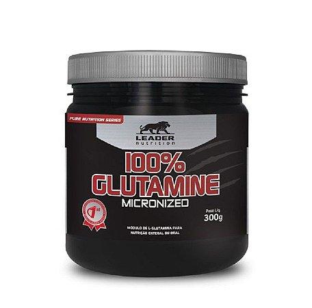 100% GLUTAMINA (300G) - LEADER NUTRITION
