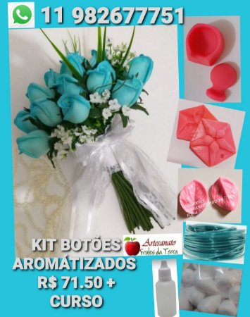 Kit frisadores botões bouquet