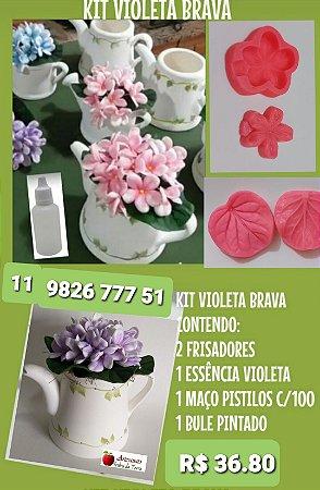 Kit frisadores violeta Brava