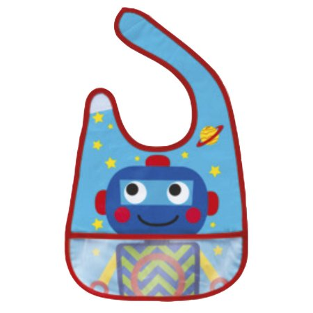 Babador com bolso Robô
