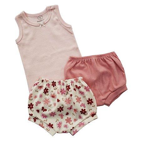 Conjunto Verão Flamingo