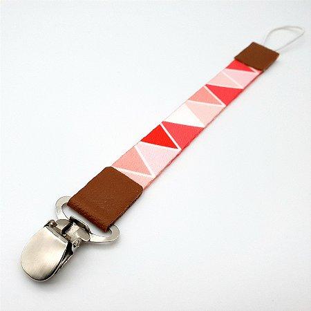 Prendedor de chupeta Triângulos Rosê