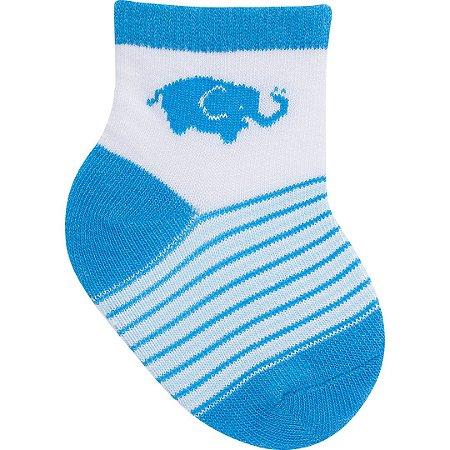 Meia Elefante Azul 0 a 15 meses
