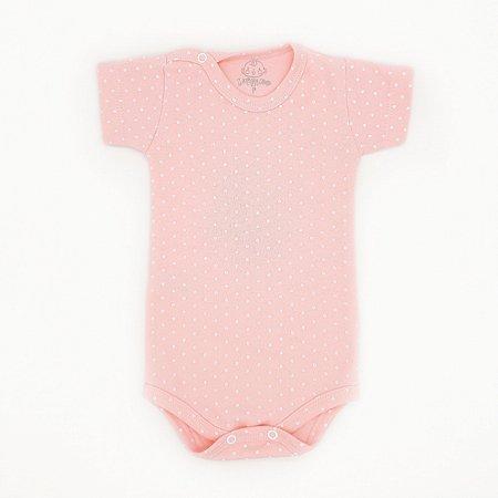 Body Poá Rosa Bebê