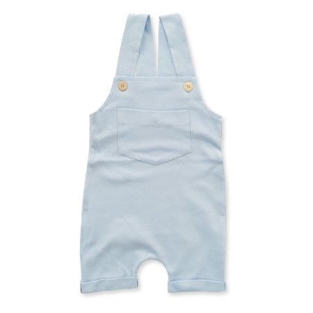 Jardineira Curta Azul Bebê