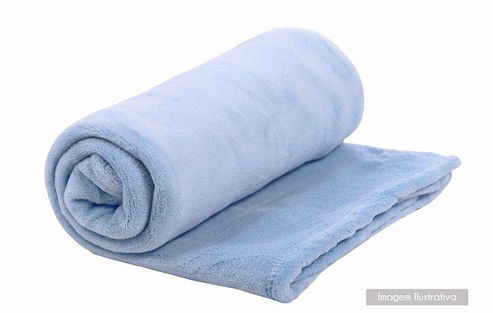Cobertor de Microfibra Azul Bebê