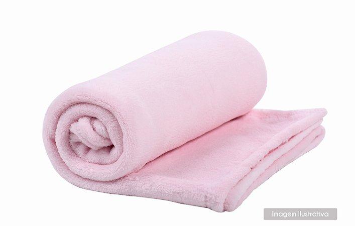 Cobertor de Microfibra Rosa Bebê